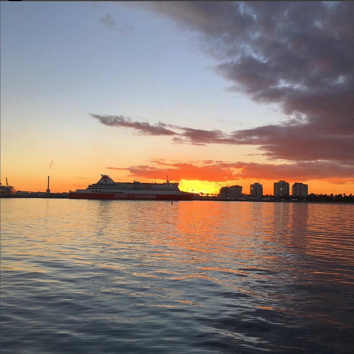 Sunset at Port Melbourne